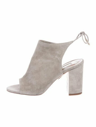 Aquazzura Suede Pumps Grey
