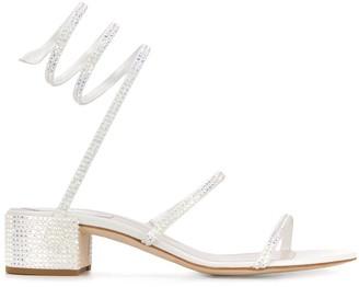 Rene Caovilla Cleo 40 rhinestone-embellished sandals