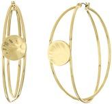 Robert Lee Morris Gold Overlap Hoop Earrings