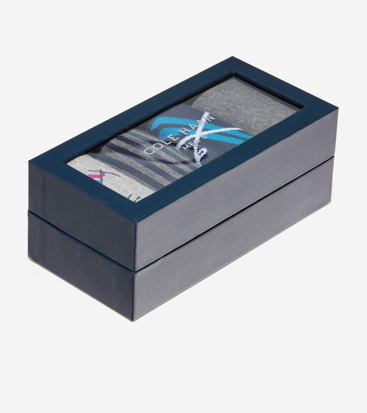 Cole Haan 4 Pair Skiing Print Sock Gift Box