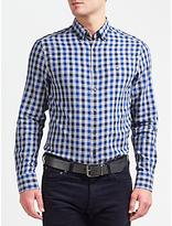 Gant Nordic Plaid Gingham Shirt, Yale Blue