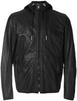 Diesel hooded zip jacket - men - Sheep Skin/Shearling/Polyester - L