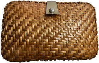 Adored Vintage Camel Wicker Clutch bags