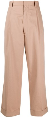 Maison Margiela High-Waisted Cropped Trousers