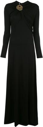 Co Brooch Neck Dress