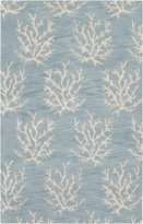 The Well Appointed House Surya Sky Blue Rug with Ivory Coral- Available in a Variety of Sizes