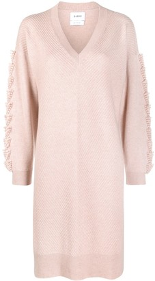 Barrie Embroidered Cashmere Dress