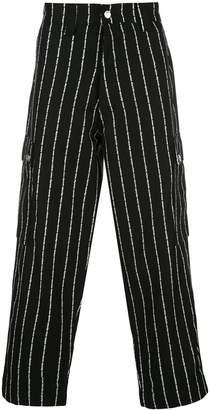 Enfants Riches Deprimes striped wide-leg trousers