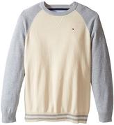 Tommy Hilfiger Daryl Raglan Crew Neck Sweater (Big Kids)