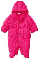 Ralph Lauren Infant Girls' Diamond Quilted Bunting - Sizes 3-9 Months