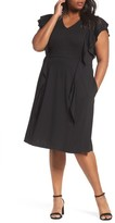 Sejour Plus Size Women's Ruffle Ponte Dress