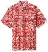 Reyn Spooner Men's Spooner Kloth Pullover Classic Fit Button Front Hawaiian Shirt Heritage