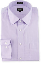Neiman Marcus Classic-Fit Non-Iron Textured Dress Shirt, Lavender
