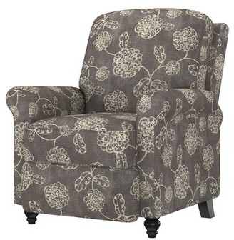 Andover Mills Leni Manual Recliner Upholstery Color: Chocolate Brown Chenille