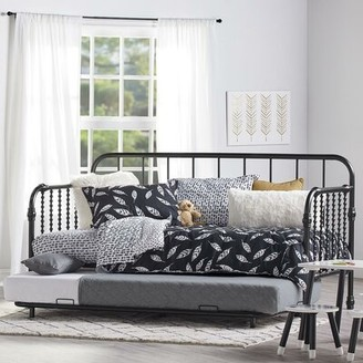 Monarch Hill Wren Twin Daybed with Trundle Little Seeds Bed Frame Color: Black