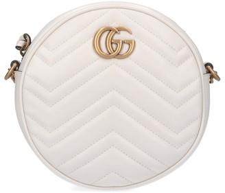 Gucci GG Marmont Mini Round Matelasse Shoulder Bag