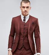 Heart & Dagger Super Skinny Suit Jacket In Brown