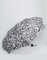 Fulton Minilite Leopard Print Umbrella