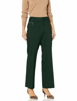Chaus Women's Straight Leg Zipper Pocket Pant