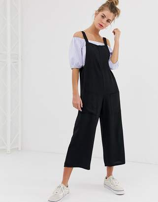 New Look pocket detail jumpsuit in black