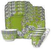 222 Fifth Adelaide 16-Piece Dinnerware Set in Green