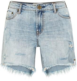 One Teaspoon Stevies light blue denim shorts