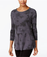 Calvin Klein Tie-Dyed Layered-Look Top