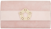 Phase Eight Georgie Suede Clutch Bag, Rose