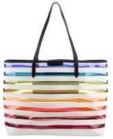 Mary Katrantzou PVC Rainbow Stripe Tote