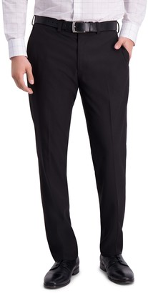 Louis Raphael Solid Flat Front Slim Fit Dress Pants