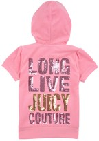 Juicy Couture Girls Logo Terry Long Live Jc Short Sleeve Jacket