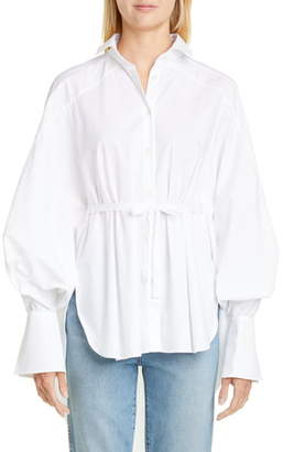 Palmer Harding Palmer/Harding Streep Belted High/Low Shirt
