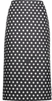 Rochas Printed cotton and silk-blend midi skirt