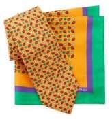 Etro Two-Piece Ladybug Silk Tie & Pocket Square Set