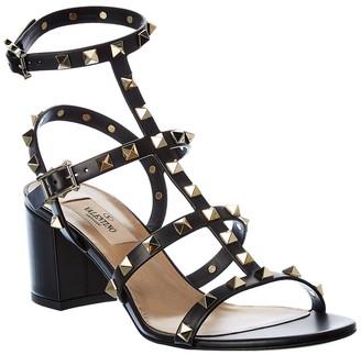 Valentino Rockstud 60 Mid Leather Ankle Strap