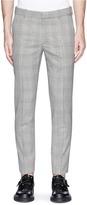 Alexander McQueen Glen plaid virgin wool pants