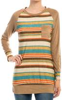 Auditions Striped Suede Top