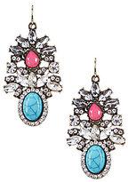 Natasha Accessories Teardrop Chandelier Earrings