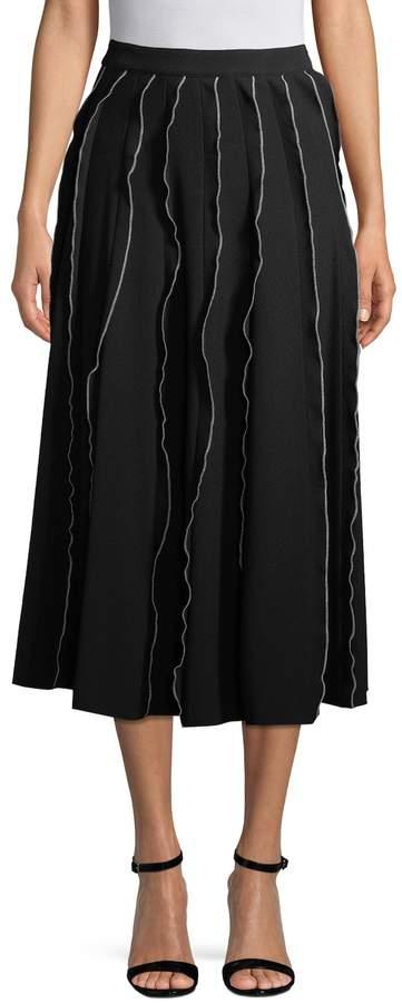 Derek Lam Women's Midi Ruffle Skirt