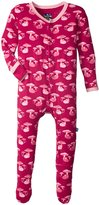 Kickee Pants Print Footie (Baby) - Rhododendron Field Mouse - 12-18 Months