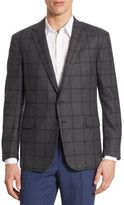 Ralph Lauren Purple Label Slim Fit Windowpane Wool Sportcoat