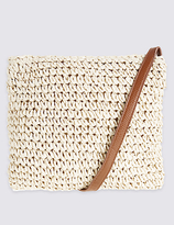M&S Collection Straw Winged Across Body Bag