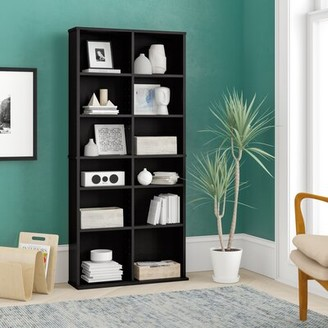 Ebern Designs Continuum Multimedia Adjustable Media Shelves Finish: Espresso