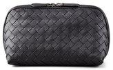 Bottega Veneta Woven Leather Medium Cosmetics Case, Black