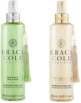 Grace Cole Body Mist Duo - Grapefruit, Lime & Mint and Nectarine Blossom & Grapefruit
