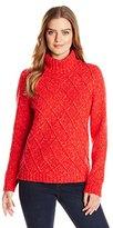 Anne Klein Women's Cable Knit Turtleneck Sweater