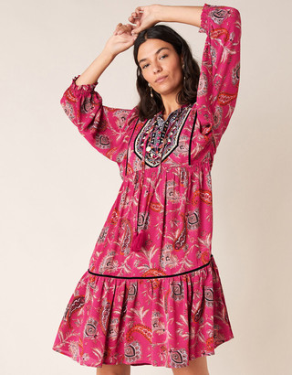Under Armour Paisley Print Tiered Dress in Sustainable Viscose Pink