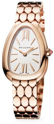 Bvlgari Serpenti Seduttori 18K Rose Gold Bracelet Watch