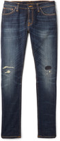 Nudie Jeans - Skinny Lin Distressed Organic Stretch-denim Jeans
