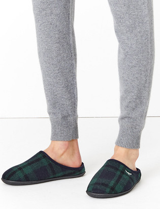 Marks and Spencer Checked Mule Slippers